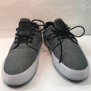 Polo Black & Gray FAXON Low Sneakers Size 11D